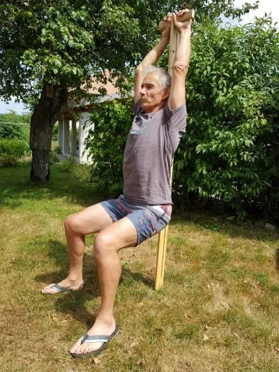 étirement du dos, bien-être, décompression vertébrale