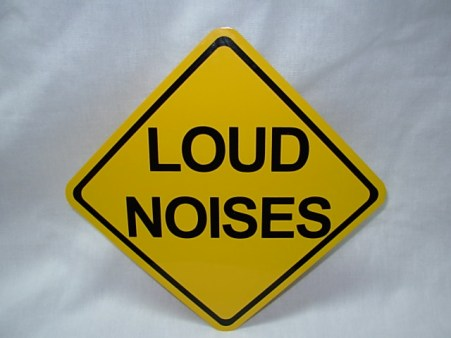 Load noises sign yellow
