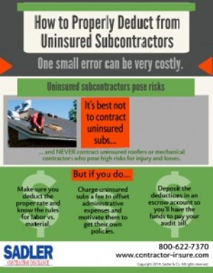 Uninsured Sub Deductions