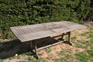Table avant rénovation