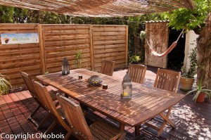 Table de jardin rénovée