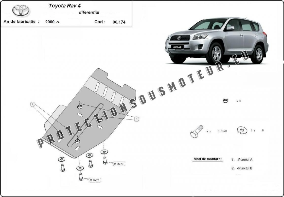 Protection Du Differentiel Toyota Rav 4