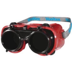 Óculos panorâmicos de soldador.