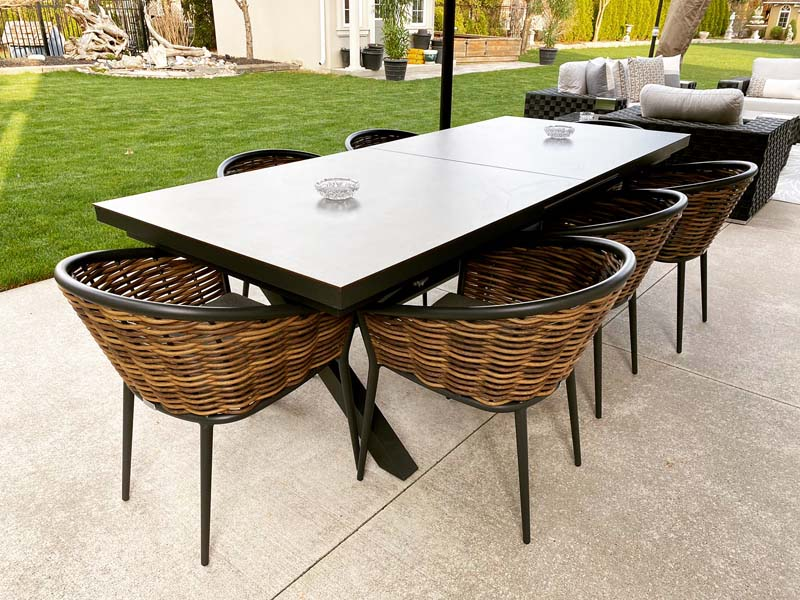 magic 9 piece set extension table with muses reed dining chairs june 2021 delivery