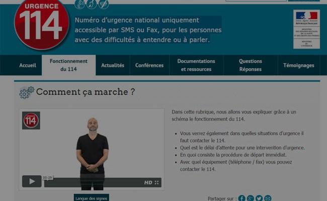 114 Le Numero D Urgence Par Sms Fax Pour Les Personnes Avec Des