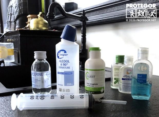 Préparation d'une solution hydro-alcoolique (SHA) maison