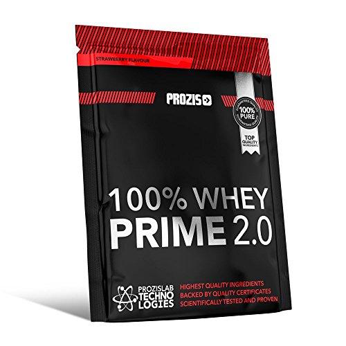 Prozis 100% Whey Prime 2.0 25g – 21g de Protéine en Poudre per Dose Enrichi en Créatine, en BCAA et en L-Glutamine – Goût Panettone – Augmente la Force, l'Énergie et la Croissance Musculaire