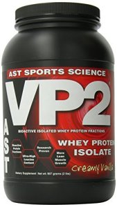 AST VP2 Whey Protein Isolate, Creamy Vanilla, 2-Pound (Pack of 6) by AST