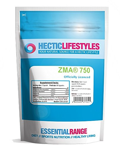 Hectic Sports Zma? 750mg Officially Licenced One a Day Patented Formula – Pack of 60 Capsules