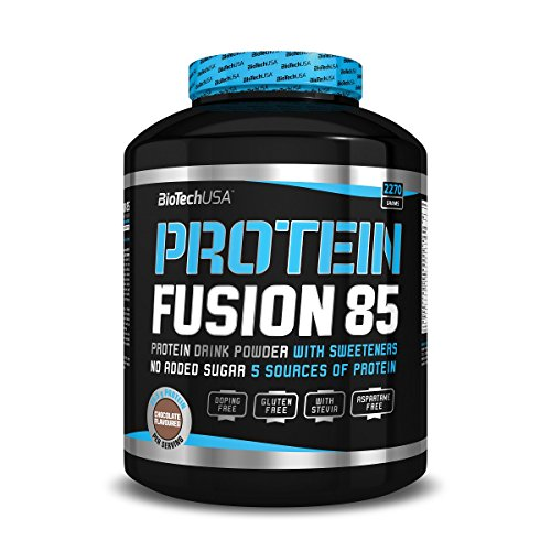 Protein Fusion 85 Strawberry 2270g – Whey Protein Concentrate (WPC), Whey Protein Isolate (WPI), Milk Protein Isolate, Casein Protein and Egg Protein – BiotechUSA