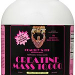 Healthy 'n Fit Creatine Mass 10000 5-pound Bottle Vanilla, Tub