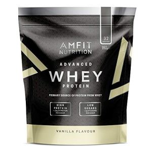 Marque Amazon – Amfit Nutrition Advanced Whey protéine de lactosérum saveur vanille, 32 portions, 990 g