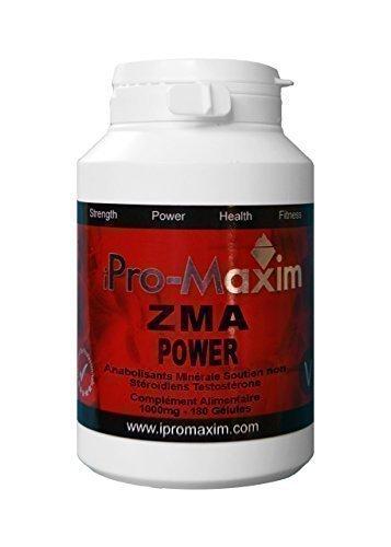 ZMA iPro-Maxim Power(180 caps) 1000MG per vegi cap. STRONGEST GRADE None Steroid, Advanced Anabolic Mineral Support