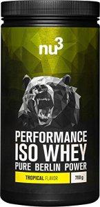 nu3 – Performance Iso Whey | 700g | Poudre saveur cassis | Pur isolat de protéine de lactosérum | Contient 83% de protéines | Excellente solubilité et qualité pure | Sans aspartame ou sucres ajoutés