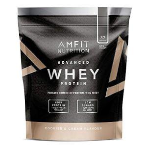 Marque Amazon – Amfit Nutrition Advanced Whey protéine de lactosérum saveur Cookies & Cream, 32 portions, 990 g