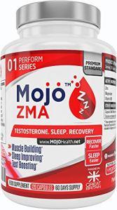 MOJO ZMA – ZMA Capsules | Supplément de Zinc, Magnésium, vitamine B6 | Meilleure force Musculaire, Puissance | Augmente la Testostérone | Sleep Aid Night Recovery et Lucid Dreaming