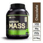 Optimum Nutrition Serious Mass, Mass Gainer Whey, Proteines Musculation Prise de Masse avec Vitamines, Creatine et Glutamine, Chocolat, 8 Portions, 2.73 kg