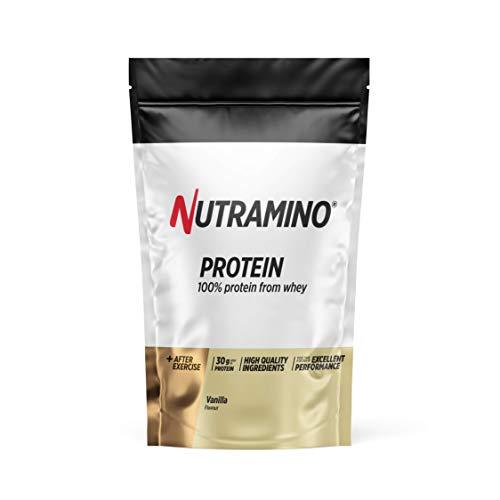 Nutramino Whey Protéine en Poudre avec Whey Isolate Protéines Musculation Prise de Masse Vanille 1 kg 1097274