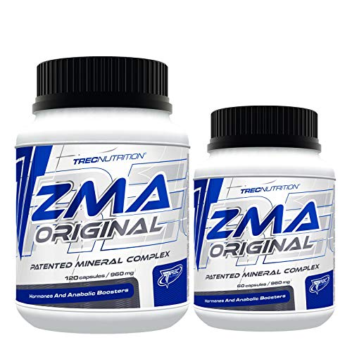 Trec Nutrition ZMA ORIGINAL – Booster de testostérone anabolique – Sleep Aid Recovery – Complément alimentaire (180 gélules)