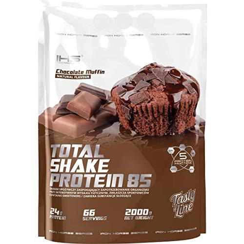 Iron Horse Total Shake Protein 85 Paquet de 1 x 2000g – Concentré de Protéines de Lactosérum – Caséine Micellaire – Isolat et Hydrolysat de Protéines de Lactosérum (Chocolate Muffin)