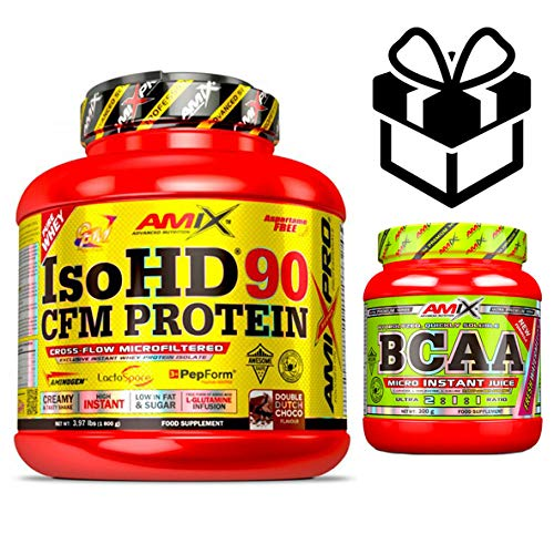 Amix Pro Iso HD 90 CFM Protein 1 800 g Choco Blanc + Bcaa Instant + Mélangeur
