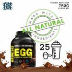 Genesis Nutrition Egg Protéin 100 % Albume d'œuf italien peu de glucides et sans graisse, goût chocolat