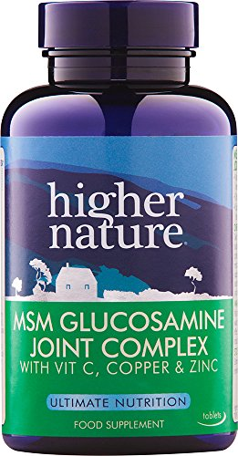 MSM Glucosamine Joint Complex – 90 comp – Higher Nature