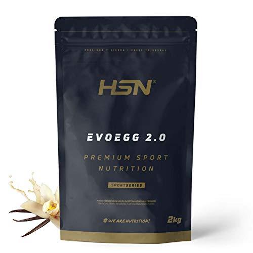 Protéine d'Oeuf de HSN | Evoegg 2.0 | 100% Albumine d'Oeuf en Poudre | Egg Protein | Idéal pour les personnes intolérantes au lactose et ovo-lactovégétariens |Sans Gluten | Saveur Vanille, 2Kg