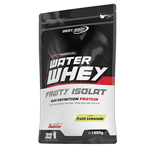 Best Body Nutrition Professional Water Whey Fruity Isolat, 1000 g Beutel (Fresh Lemonade)