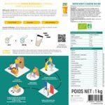 Native Whey& Caséine Mix Bio•100% Bio•Protéine Totale non dénaturée • Mélange natif Whey isolat + Caséine micellaire•Sans arôme•Fabriquéen France•AM Nutrition