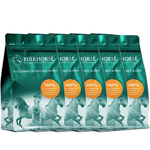BULKHORSE Sulfate de glucosamine & MSM | Qualité Premium. Dosage Efficace | 5000 grammes