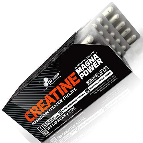 CREATINE MAGNA POWER – Créatine anabolique enrichie en magnésium – Pilules de musculation pour la croissance de la masse musculaire | Blisters – pas de boîte (90 gélules)