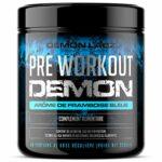 Pre Workout Demon (Arome de Framboise Bleue) – Complément puissant pré-entrainement avec créatine, caféine, bêta-alanine et glutamine (320 grammes, 40 portions)