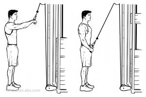 triceps nedtrekk