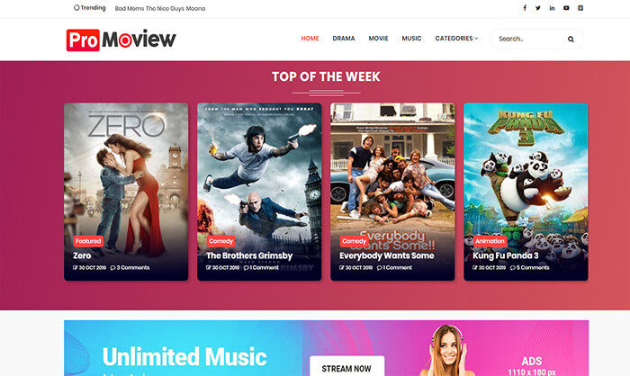 Promoview blogger template