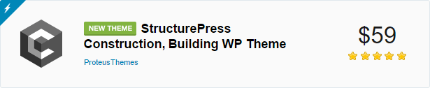 Link to our new construction theme - StructurePress