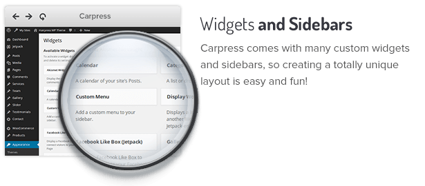 Widgets and Sidebars