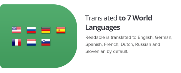 Translated to 7 languages