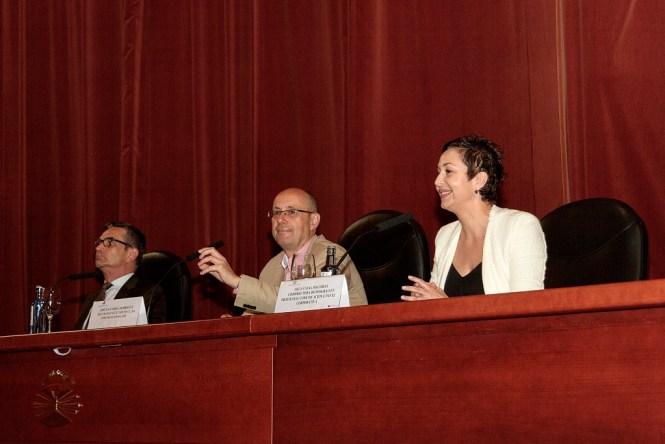 Paco Sánchez, José Videla Olga Casal . Foto Araceli Bellas