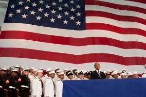 Obama en plena actuación