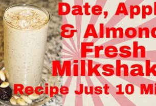 Homemade Healthy Date Milk & Badam ka Sharbat Recipe