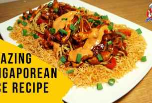 Singaporean Rice Recipe in Urdu Hindi | How to Make Singaporean Rice