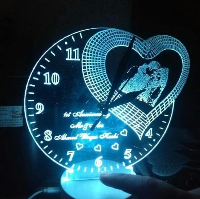 Customized Crystal Clock/Frame Lamp
