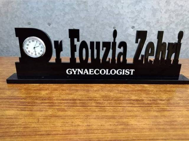 Customized Table Name Clock