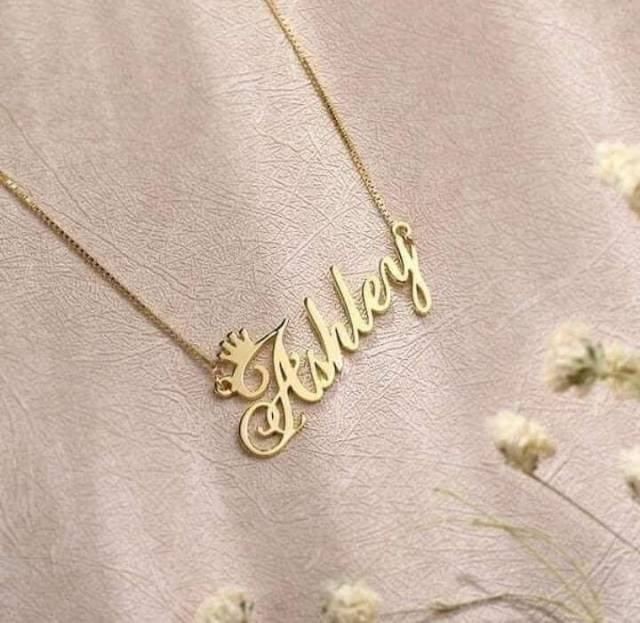 Customized Single Name Necklace