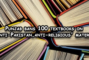 100 textbooks on 'anti-Pakistan