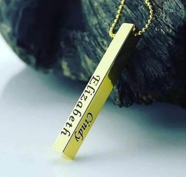 Customized Name Bar Necklace