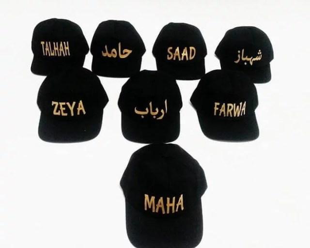 Golden Printed Caps