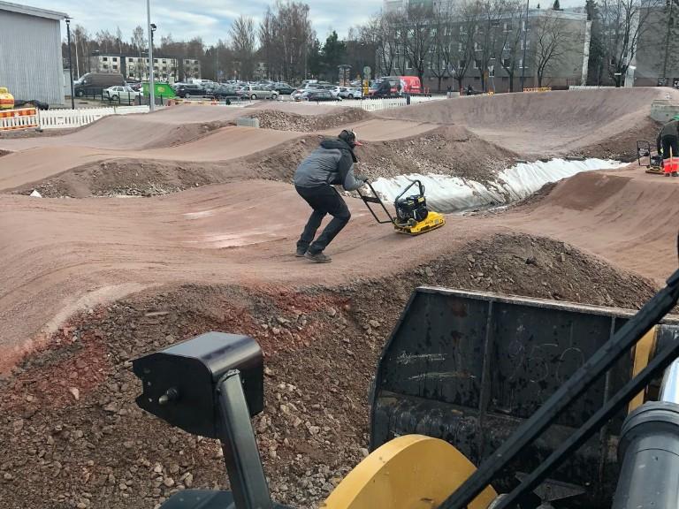 Une piste de BMX en Finlande