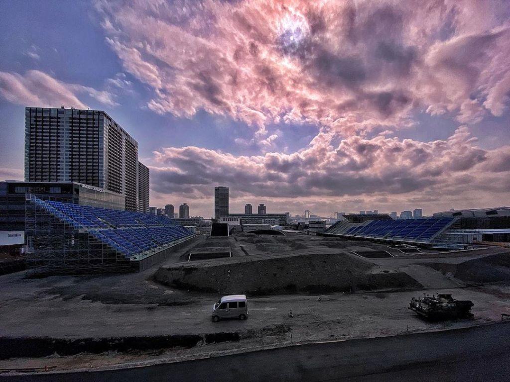 Tokyo 2020 était en phase de finition. Il manquait un peu de verdure. Ce sera pour 2021. Photo : Unknown.